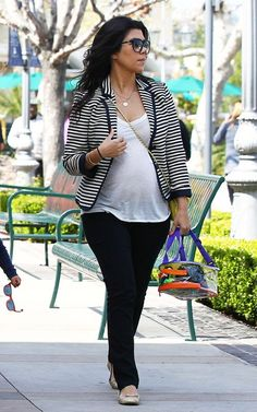 """Kourtney Kardashian is pregnant with baby number two check out photos of her pregnant stylish self at """"I'm Just Saying."""""""