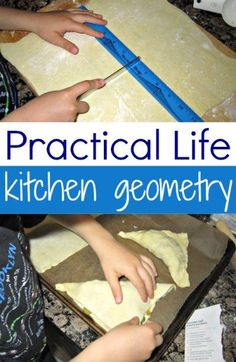 Kitchen geometry with kids is a practical life skill