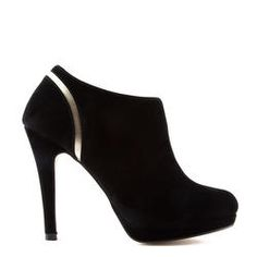 Bottines suédine noir #bottines