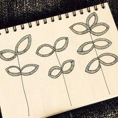 Geometrical Flowers - Sketches - Fleurs géométriques.  Illustration www.francemars.com