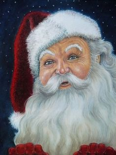 Santa Claus -Pastel orginal art piece by Mary Clare Merry Christmas To All, Father Christmas, Christmas Pictures, Christmas Snowman, Vintage Christmas, Christmas Crafts, Christmas Time, Xmas, Christmas Scenes
