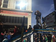 Caleb Johnson atop his float as grand marshall of the #avlnews #avlent