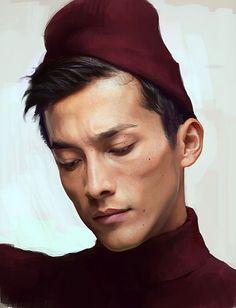 Paintable.cc | 50 Stunning Digital Painting Portraits: Kim I #digitalpainting #portrait #inspiration