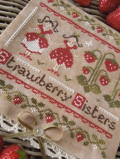 The Strawberry Sisters PDF Digital Cross Stitch Pattern by THE LITTLE STITCHER