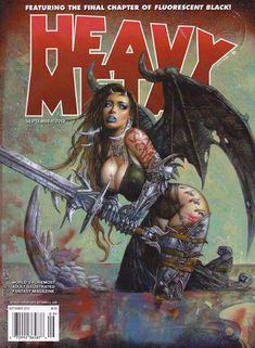 Heavy Metal Cover art by Simon Bisley Comic Art Simon Bisley, Heavy Metal Comic, Heavy Metal Art, Power Metal, Metal Magazine, Magazine Art, Magazine Covers, Black Metal, Cover Art
