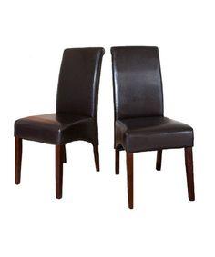 Loving this Dark Brown Avalon Parson Chair - Set of Two on #zulily! #zulilyfinds