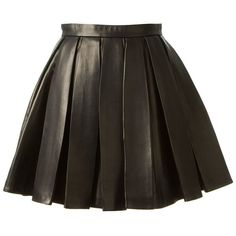 BALMAIN pleated skirt (134.785 UYU) ❤ liked on Polyvore featuring skirts, balmain, bottoms, saias, black, knee length a line skirt, straight skirts, pleated a line skirt and a line skirt