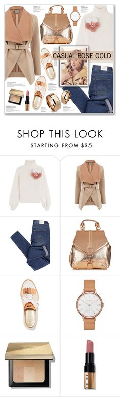 """CASUAL"" by nanawidia ❤ liked on Polyvore featuring Fendi, Oasis, Cheap Monday, Oscar de la Renta, Skagen, Bobbi Brown Cosmetics, CasualChic, rosegold, polyvoreeditorial and polyvorecontest"