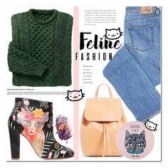 """Purrfect Feline Fashion"" by asteroid467 ❤ liked on Polyvore featuring Camilla Elphick and Holika Holika"
