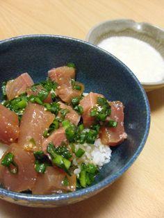 yellowtail sashimi on rice recipes dishmaps yellowtail sashimi on rice ...