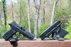 Who would win between the Springfield Armory Hellcat VS the Sig Sauer I compare the two different concealed carry gun models here. Springfield Armory, Sig Sauer, Hand Guns, Den, Pistols, Revolver