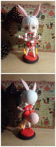俺做的第二只剑灵 貌似大家都很喜欢兔纸头? 感觉尾巴还可以肥一些! 【暴走玩偶】