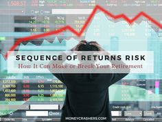 Sequence risk, or sequence of returns risk, is the risk that the stock market crashes early in your retirement. Why does this matter, you may ask? Read to find out. Happy Retirement, Saving For Retirement, Retirement Planning, Transition To Retirement, Saving Tips, Saving Money, Investment Advice, Ways To Save Money, Money Tips