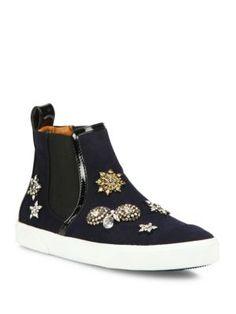 JIMMY CHOO Della Embellished Flannel High-Top Skate Sneakers. #jimmychoo #shoes #sneakers