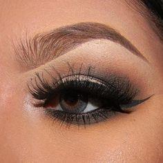 """Soft smokey eye eye look by _maycup. Using WetNWild eyeliner and Anastasia Beverly Hills BrowWiz in """"Brunette"""" BrowPowderDuo in """"Ash Brown. source"""