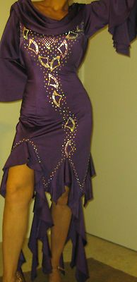 Bran New Purple Latin Competition Dance Dress Stones | eBay