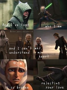 He's never coming back. But u did – Galaxy Art Star Wars Rebels, Star Wars Clone Wars, Star Wars Clones, Citations Star Wars, Anakin Vader, Cuadros Star Wars, Ahsoka Tano, Star Wars Fan Art, Star War 3
