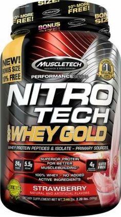 59cb8a3ad MuscleTech Nitro Tech 100% Whey Gold Protein Powder