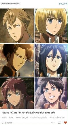 Of course not, this series is full of trio's that constantly parallel and match up to each other in different ways | Farlan, Levi, and Isabel vs Armin, Mikasa, and Eren