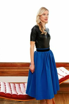 British Vogue's Calgary Avansino Sits Down with Rue   Rue... That skirt is lovely.