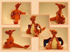 Pokemon: Charizard - Free Amigurumi Pattern here: http://ayuminoon.deviantart.com/art/Charizard-481375465