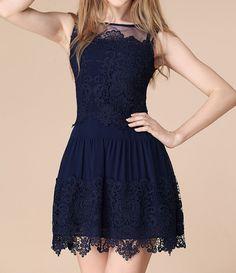 Vestidos Sleeveless Lace Mini Dress   GonChas