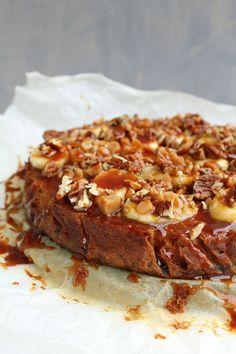 Banoffee cheesecake: dat wil je proeven. Dat dacht Bianca van de fijne blog De Keukenboefook, en…