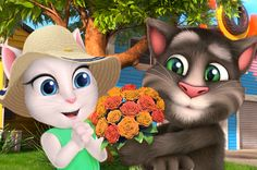 surprise trip with talking tom