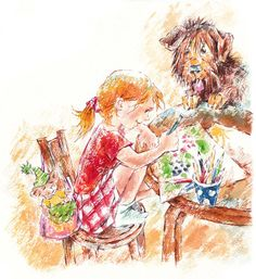 Иллюстрация к стихам Агнии Барто. Нарисуем огород  Екатерина Комракова