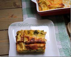 Le pellegrine Artusi: Lasagne ai broccoli con besciamella allo zafferano...