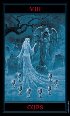 Eight of Cups from The Gothic Tarot by Joseph Vargo