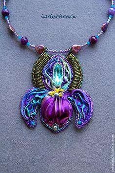 """Купить Кулон """" Ирис """" - 2 - фиолетовый, кулон, украшение, подарок, подарок девушке"""
