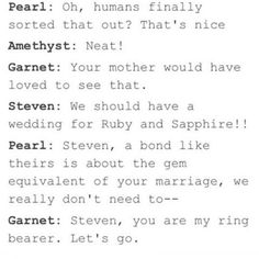 There NEEDS to be a wedding episode!