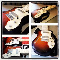 Guitar birthday cake by Tweet's Cakery
