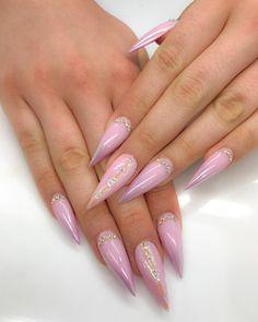19 Very Beautiful Nail Art Shapes Creative Nail Designs, Best Nail Art Designs, Fabulous Nails, Gorgeous Nails, Fancy Nails, Pink Nails, Photomontage, Nailart, Orange Nail Designs