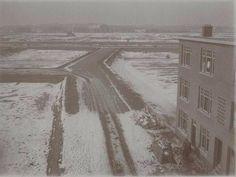 Populierstraat hoek Cypresstraat richting Hanenburglaan. Plan Houtrust in aanleg in de jaren '20.