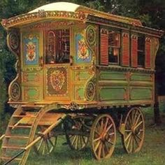Gypsy Vardo Oh I could have a wonderful journey in this.