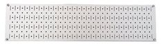 8in x 32in Horizontal White Metal Pegboard Tool Board Panel
