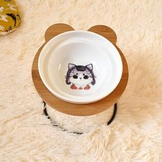 New High-end Pet Bowl Bamboo Shelf Ceramic Feeding and Drinking Bowls for Dogs and Cats Pet Feeder Accessories Unicorn Party Supplies, Baby Shower Party Supplies, Bamboo Shelf, Ball Birthday Parties, Pet Bowls, Pet Feeder, Dog Feeding, Design Your Home, Dog Breeds