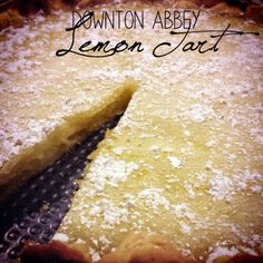 Downton Abbey Lemon Tart | It's hard not to love this old fashioned dessert recipe! This lemon dessert is oh so good.
