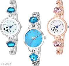 Checkout this latest Watches Product Name: *MMD Attractive Same Peace With Different Color 3 Combo Watch For Girls And Women girls and woman combo watches Analog Watch* Strap Material: Metal Display Type: Analogue Size: Free Size Multipack: 3 Country of Origin: India Easy Returns Available In Case Of Any Issue   Catalog Rating: ★4 (454)  Catalog Name: Unique Women Watches CatalogID_2295706 C72-SC1087 Code: 164-12041259-3711