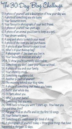 30 DAY BLOG CHALLANGE quirkyginger.com