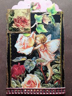 Fairy ATC with an Inchie | by Donetta's Beaded Treasures Scrapbook Cards, Scrapbooking, Atc Cards, Artist Trading Cards, Altered Books, Types Of Art, Card Holders, Mosaics, Fairies