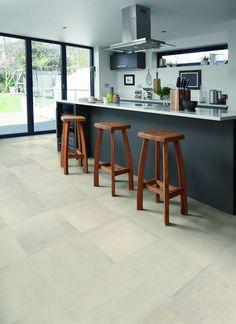 Polyflor at Home Vinyl Tiles, Vinyl Flooring, Kitchen Flooring, Beton Design, Concrete Design, Modern Interior, Interior Design, Luxury Vinyl Tile, Information Design