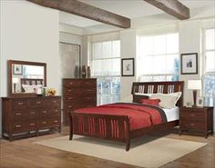 coaster furniture louis philippe cherry 4 piece twin bedroom set