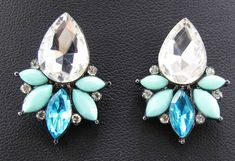 Cheap earring showcase, Buy Quality earrings fake directly from China earrings rock Suppliers: Hot Elegance  Women Fashion Blue Crystal  Earrings Style New arrival  with gems Drop/Dangle crystal earring for women gi