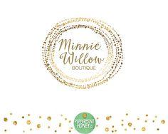 Minnie Willow GOLD SPARKLE logo Premade Logo by PeppermintHoneyCo