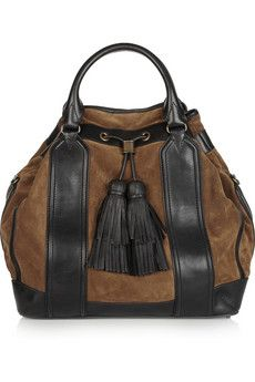 Burberry Shoes & Accessories | Tasseled leather and suede tote | NET-A-PORTER.COM