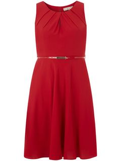 I'd like this for xmas parties!  Billie & Blossom Red Tuck Chiffon Dress - View All Dresses - Dresses