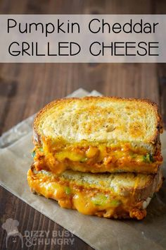 How to make Oooey-gooey grilled cheese sandwich with pumpkins and vegetables #dizzybusyandhungry #grilledcheese #sandwich #pumpkin